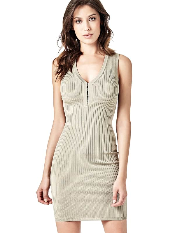 Robe marciano finition cotelee