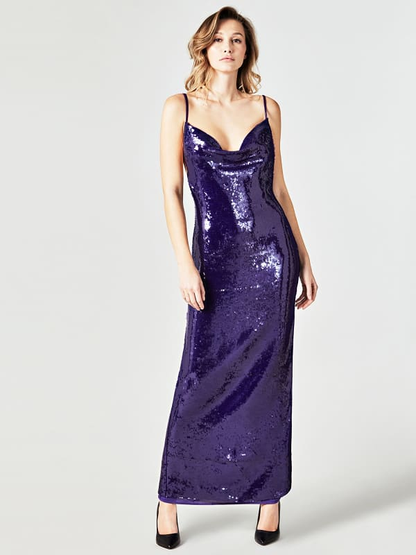Robe longue paillettes marciano