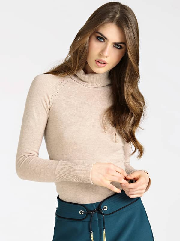 Pull col haut strass marciano