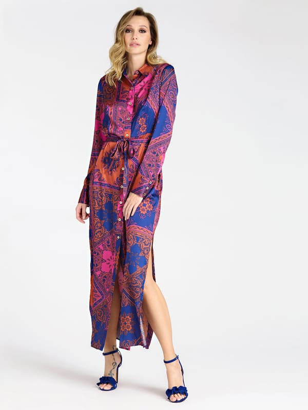 Langes Blusenkleid Marciano Paisley Print - Guess