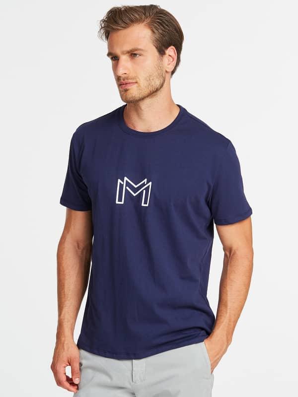GUESS T-Shirt Marciano Geometrisches Logo