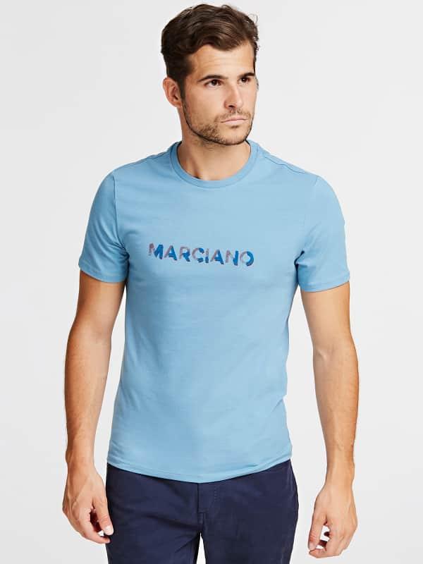 GUESS T-Shirt Jersey Stretch Marciano Logo-Print