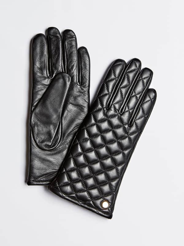 GUESS Handschuhe Echtes Leder Steppoptik Vorn