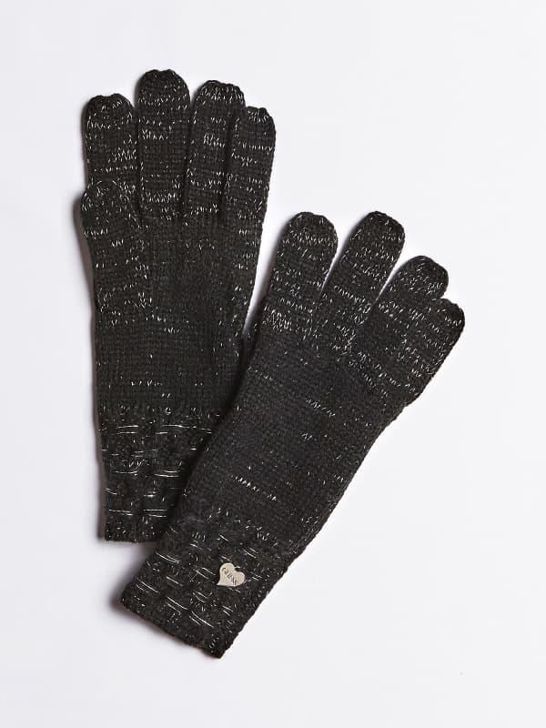 GUESS Handschuhe Strickmuster Logo