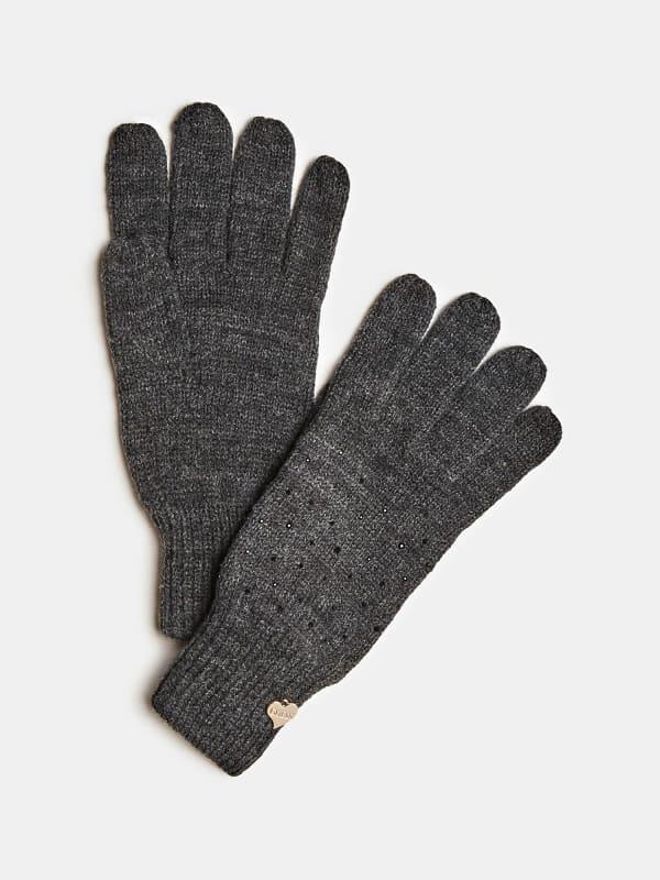 Handschuhe Strass-Applikationen Logo | Accessoires > Handschuhe | Guess