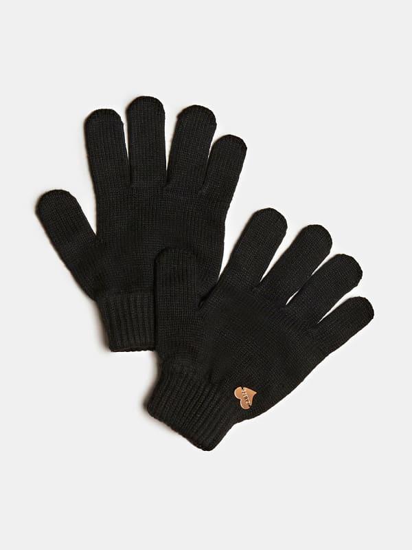 Handschuhe Aus Wolle Herz Logo | Accessoires | Guess