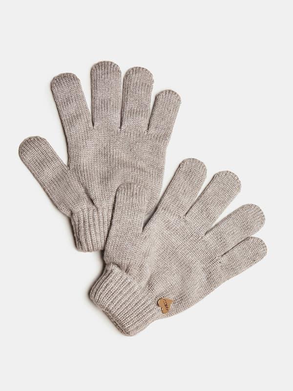 GUESS Handschuhe Aus Wolle Herz Logo