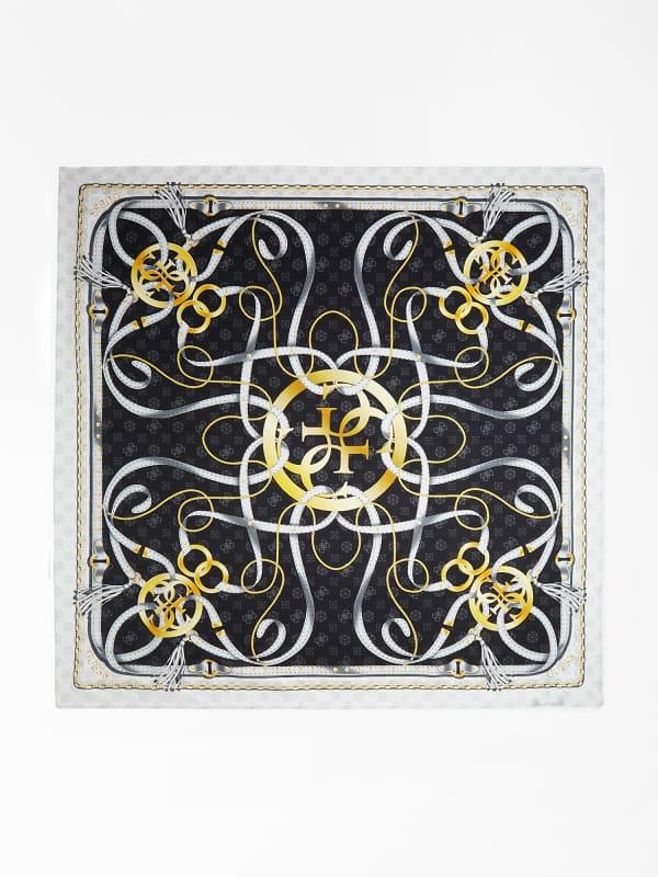 Foulard Imprimé Rubans Avec Logo