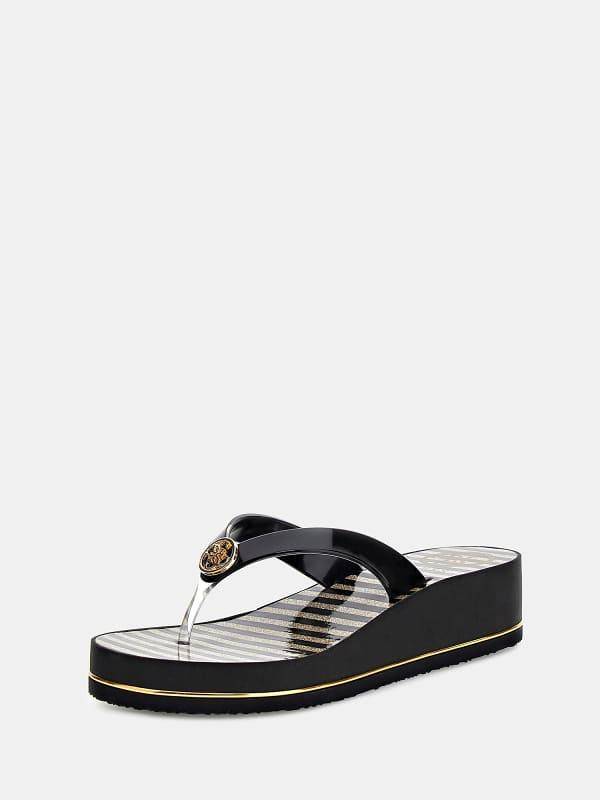 Zehenstegsandale Enzy Logo | Schuhe > Sandalen & Zehentrenner | Guess