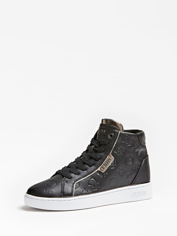 Sneaker montante brina logo gaufre