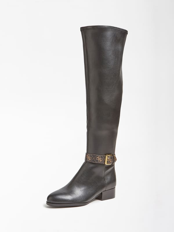 GUESS Stiefel Agetha Schnalle Logo