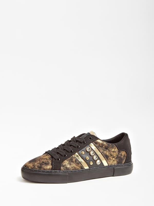 Sneaker glitzy lamee clous bijou