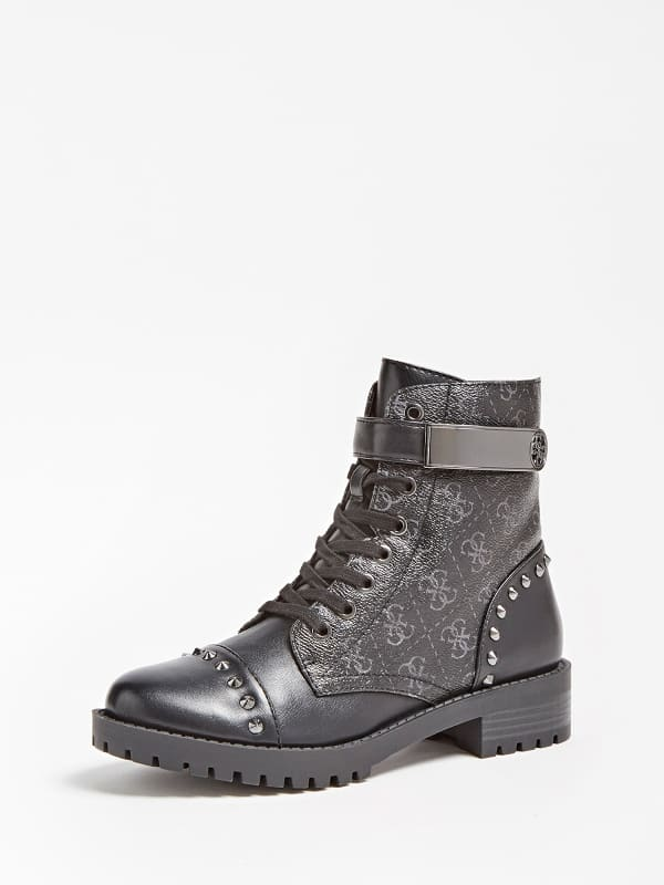 Guess Haleigha Logo Low Boot With Studs