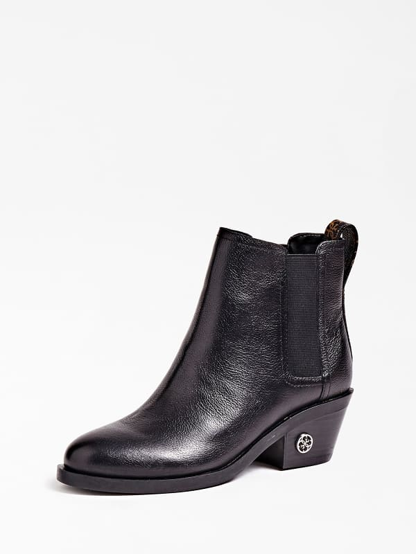 Stiefelette Macada Echtes Leder Mit Logo | Schuhe > Stiefeletten > Sonstige Stiefeletten | Guess