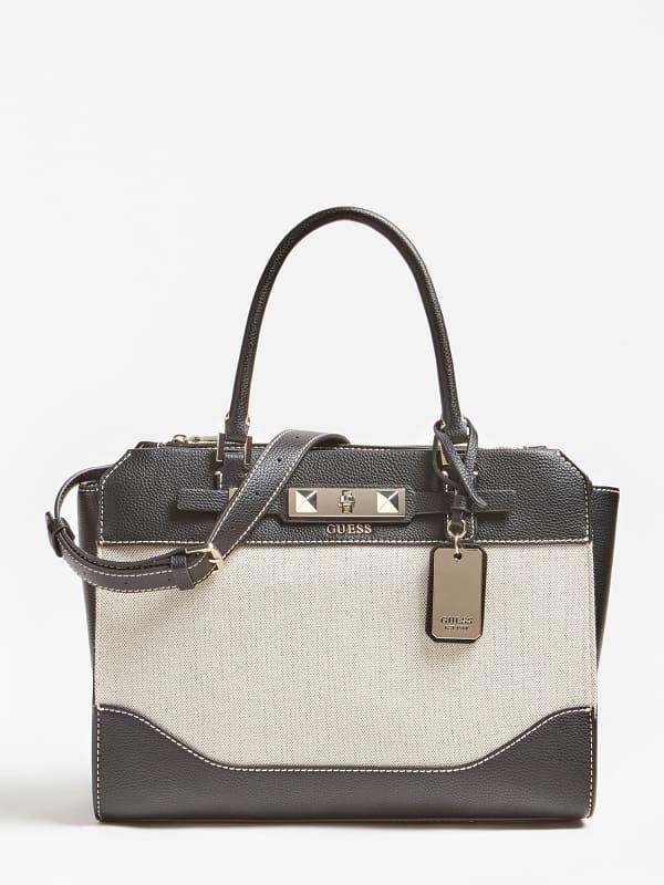 Guess Raffie Colour Block Handbag
