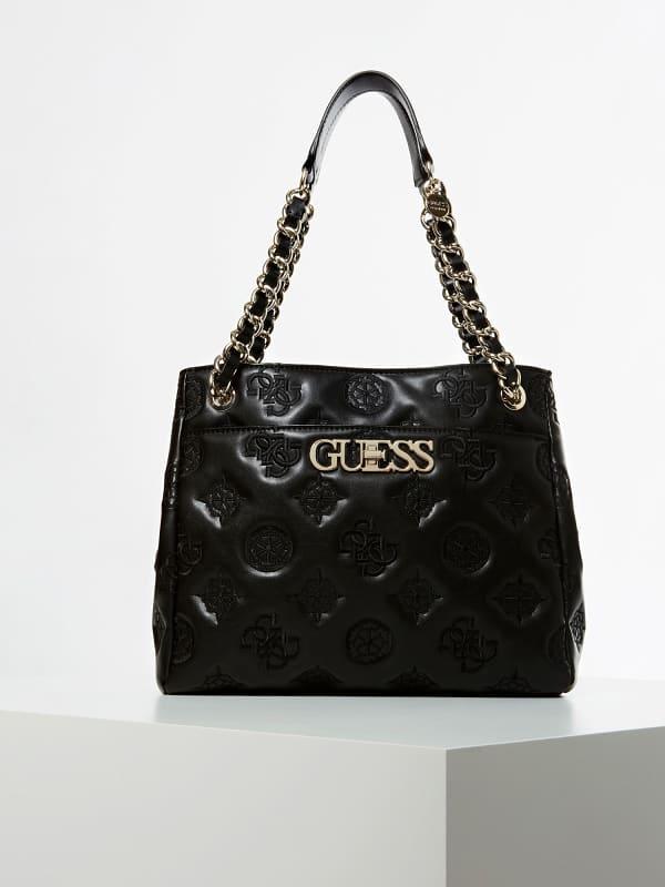 Handtasche Guess Chic Eingeprägtes Logo | Taschen > Handtaschen > Sonstige Handtaschen | Guess