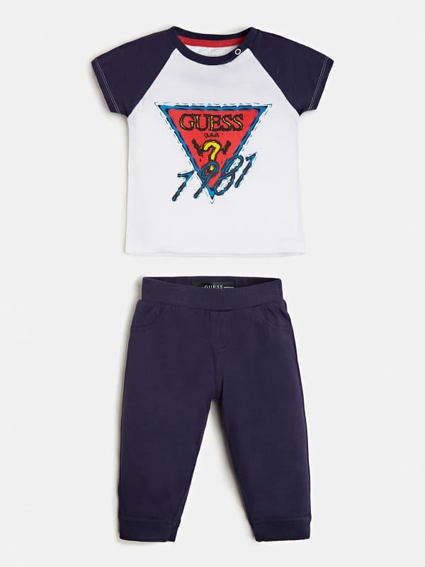 T-Shirt Et Pantalon Logo Sur Le Devant