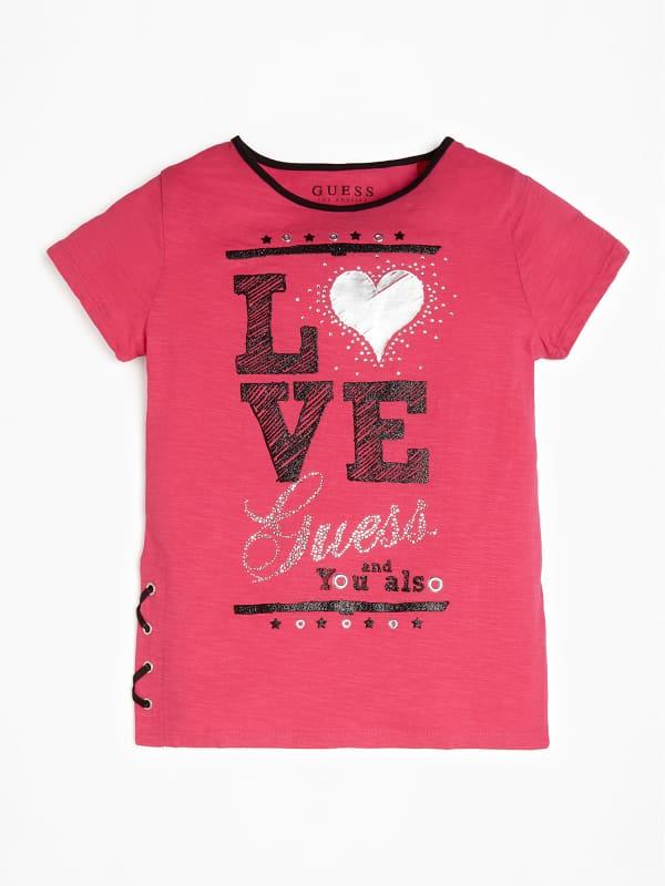 T shirt imprimé À lacets