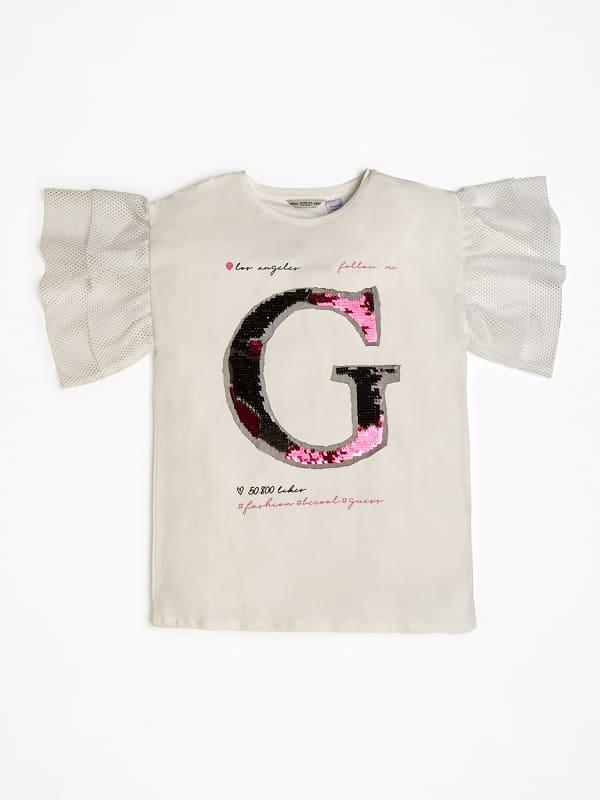 T shirt logo sequin