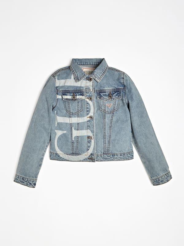 Jeansjacke Logo | Bekleidung > Jacken > Jeansjacken | Blau | Guess