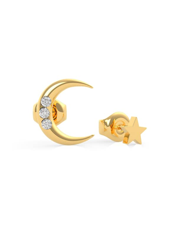 Boucles D'oreilles Get Lucky Lune Et Etoile