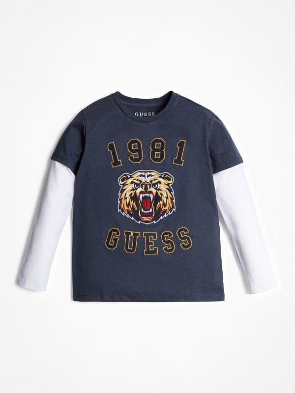 T shirt broderie lion logo