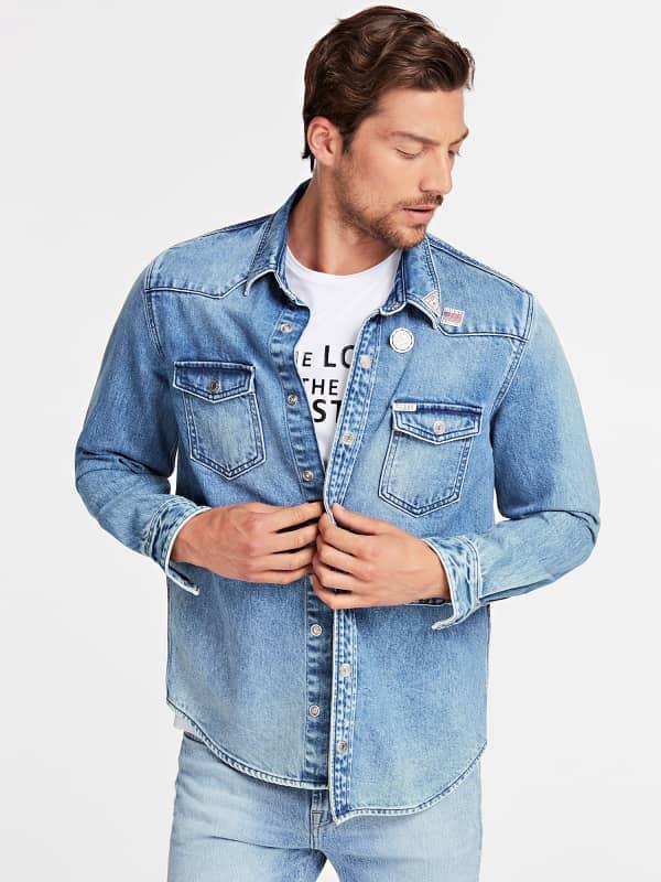 Jeanshemd Im Regular Fit   Bekleidung > Hemden   Guess