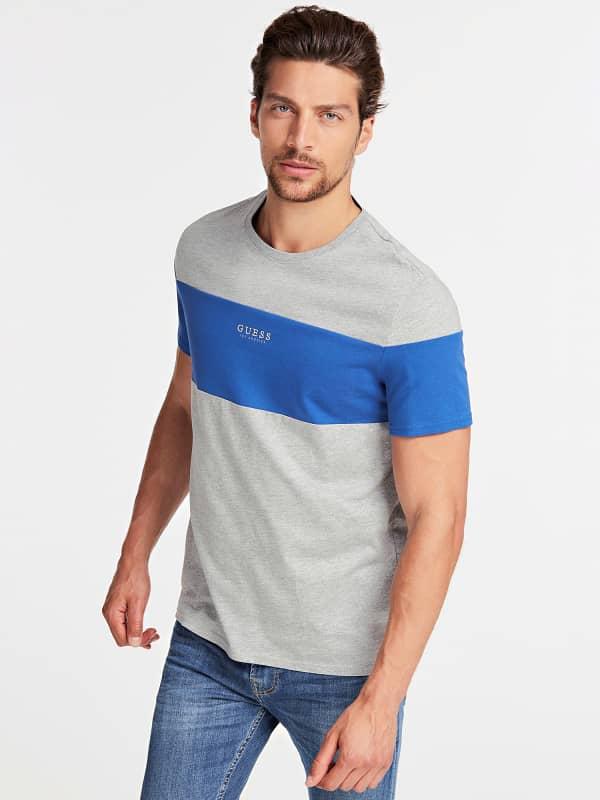 T shirt tissu contrastant