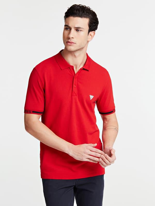 GUESS Poloshirt Ärmellogo