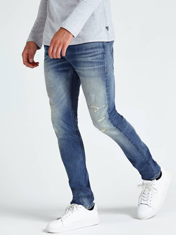 Jean effet use abrasions