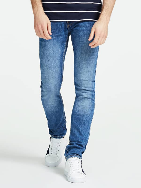 Jeans effet délavé 5 poches