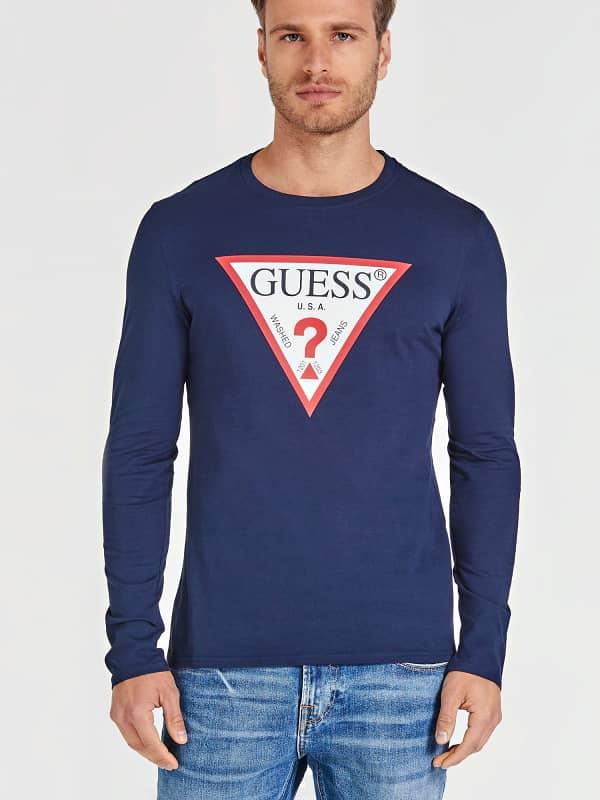 GUESS T-Shirt Print Logodreieck Vorn