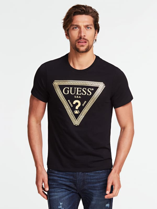 T shirt logo triangulaire chaine