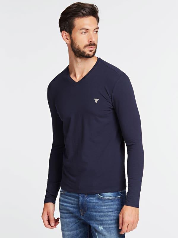 GUESS T-Shirt Slim Fit Mit Logodetail