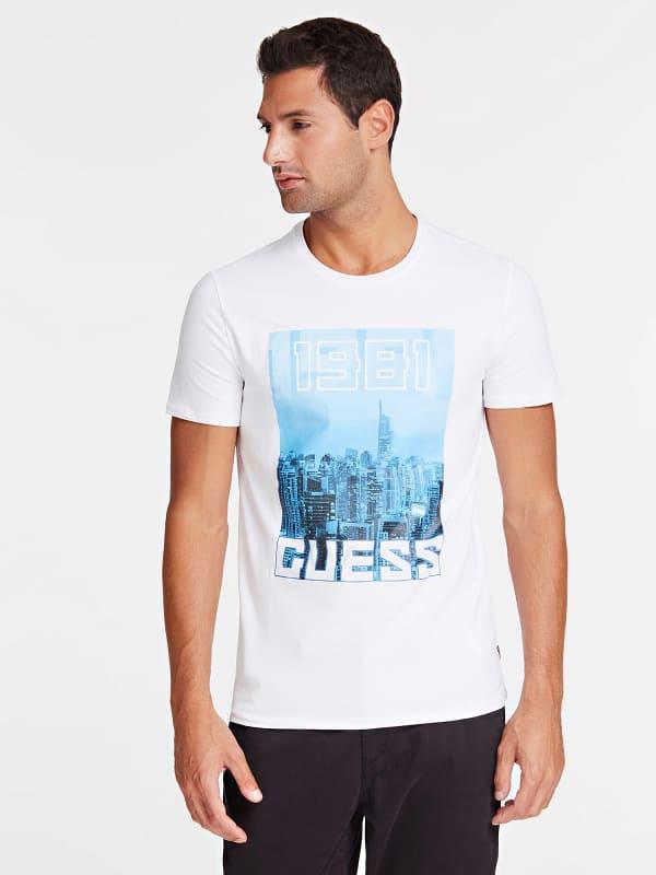 T shirt imprime frontal