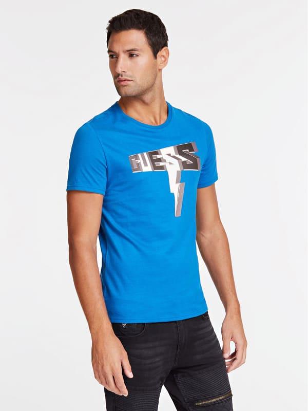 T shirt logo imprimé sur le devant