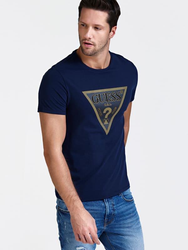 GUESS T-Shirt Logodreieck Vorn