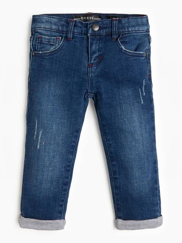Jeans slim fit effet délavé