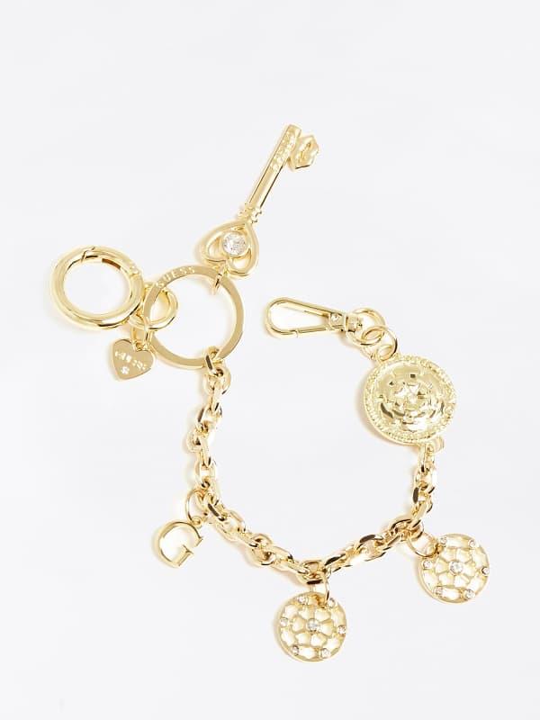 Schlüsselanhänger Kette Mehrere Charms Logo | Accessoires > Schlüsselanhänger | Guess