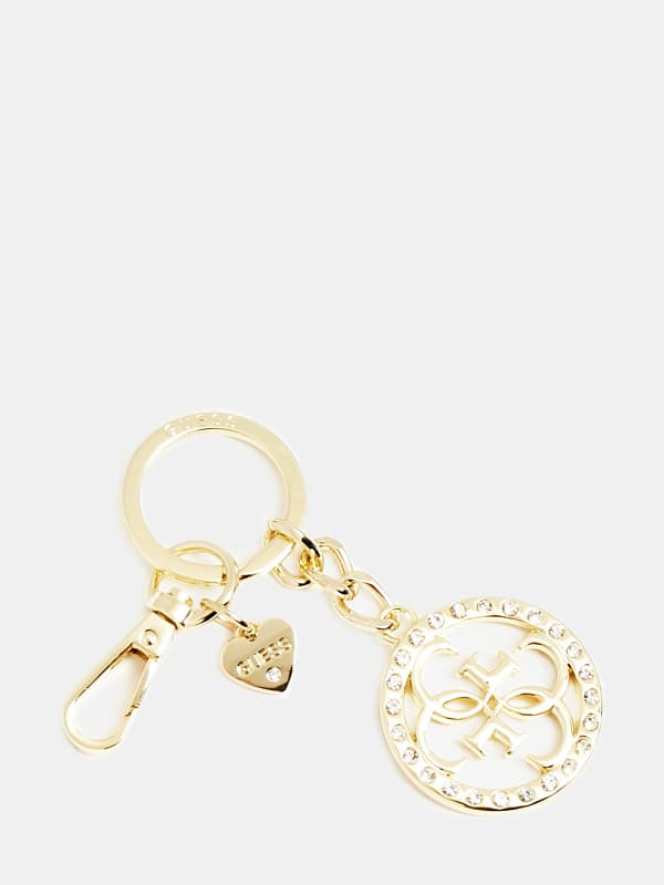 Schlüsselanhänger Logo 4G Strass | Accessoires > Schlüsselanhänger | Guess