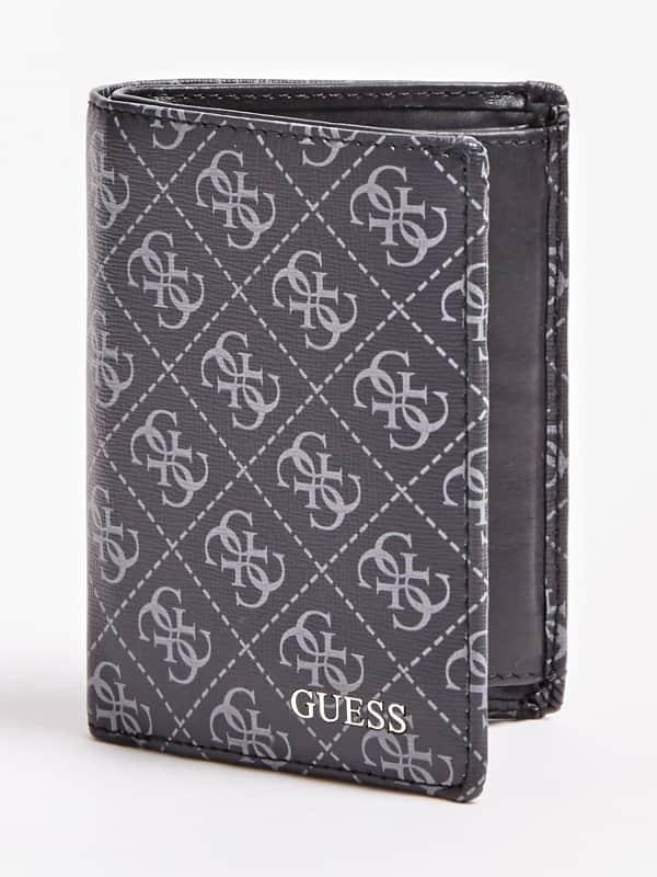 Portemonnaie Manhattan Leder-Mix Logoprint | Accessoires > Portemonnaies > Sonstige Portemonnaies | Guess