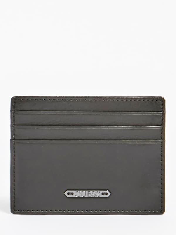 Porte cartes de crédit tyler en cuir véritable