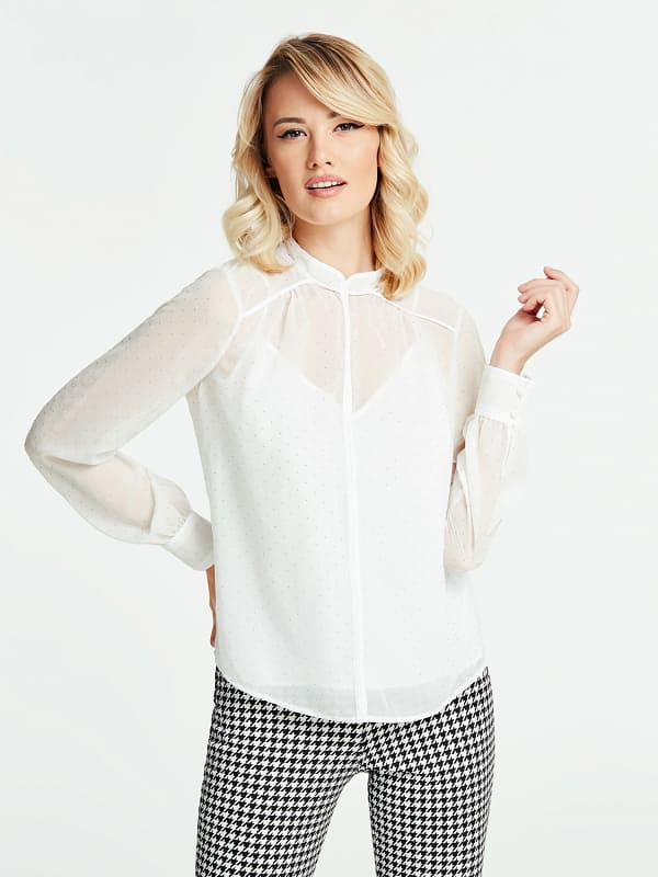 Blouse strass all over