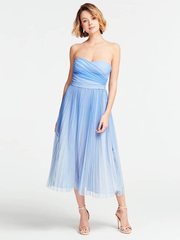Plisowana Sukienka Bez Rękawów - Guess