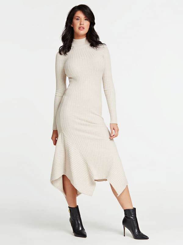 Robe longue maille