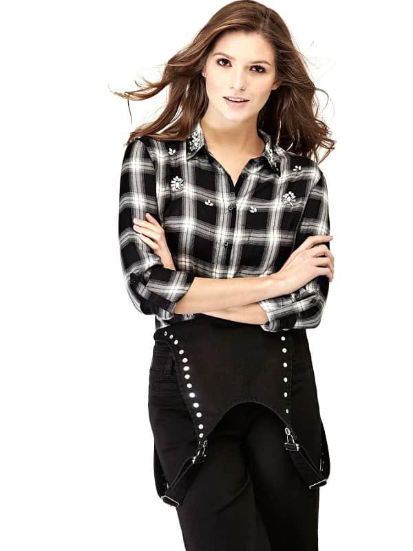 GUESS Jeans-Latzhose Nieten