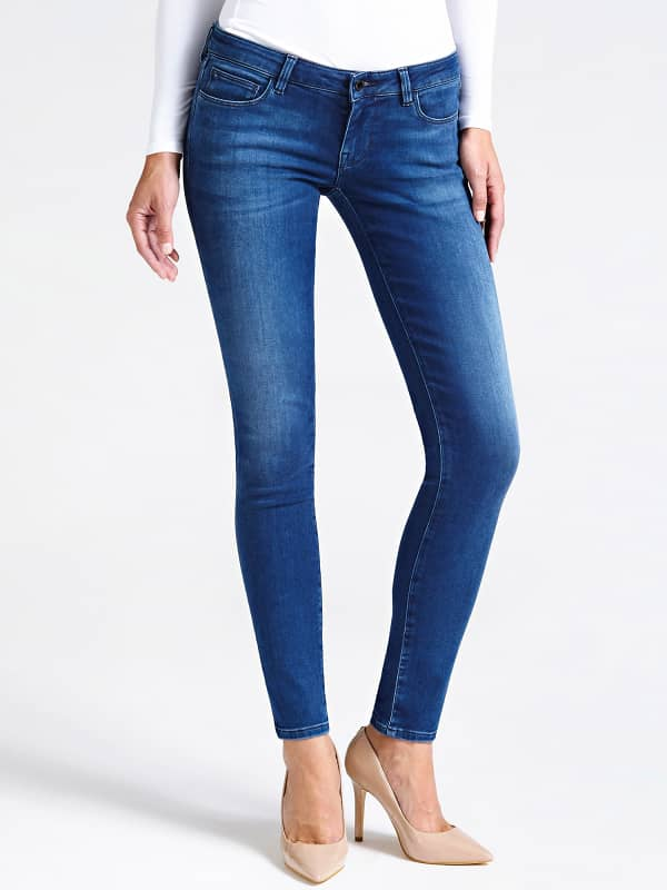 5-Pocket-Jeans Skinny | Bekleidung > Jeans > 5-Pocket-Jeans | Blau | Baumwolle - Polyester | Guess