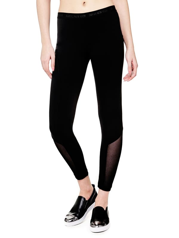 GUESS Leggings Transparenter Abschluss