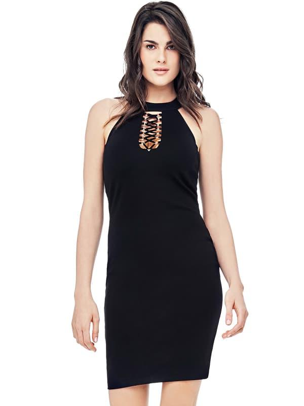 Neckholder-Kleid Korsett   Bekleidung > Kleider > Neckholderkleider   Guess