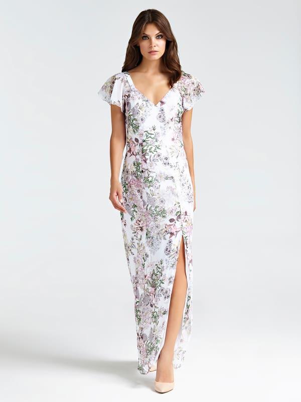 Długa Sukienka W Kwiaty - Guess